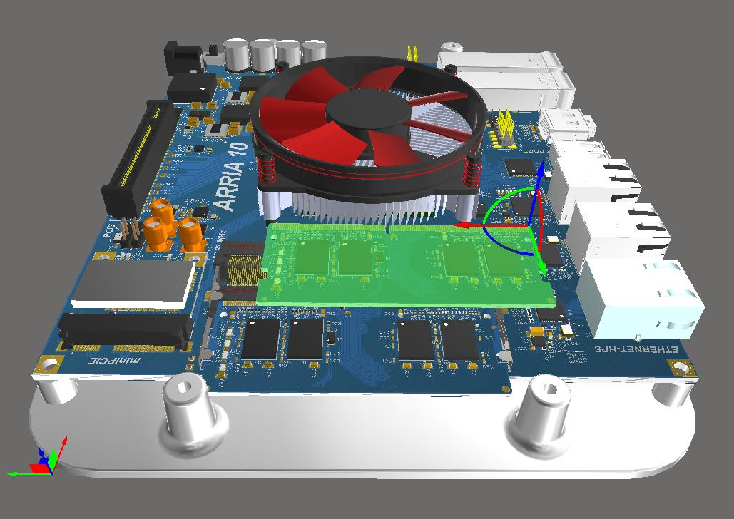 Screenshot of AD18 3D multi-assembly in 3D viewing software