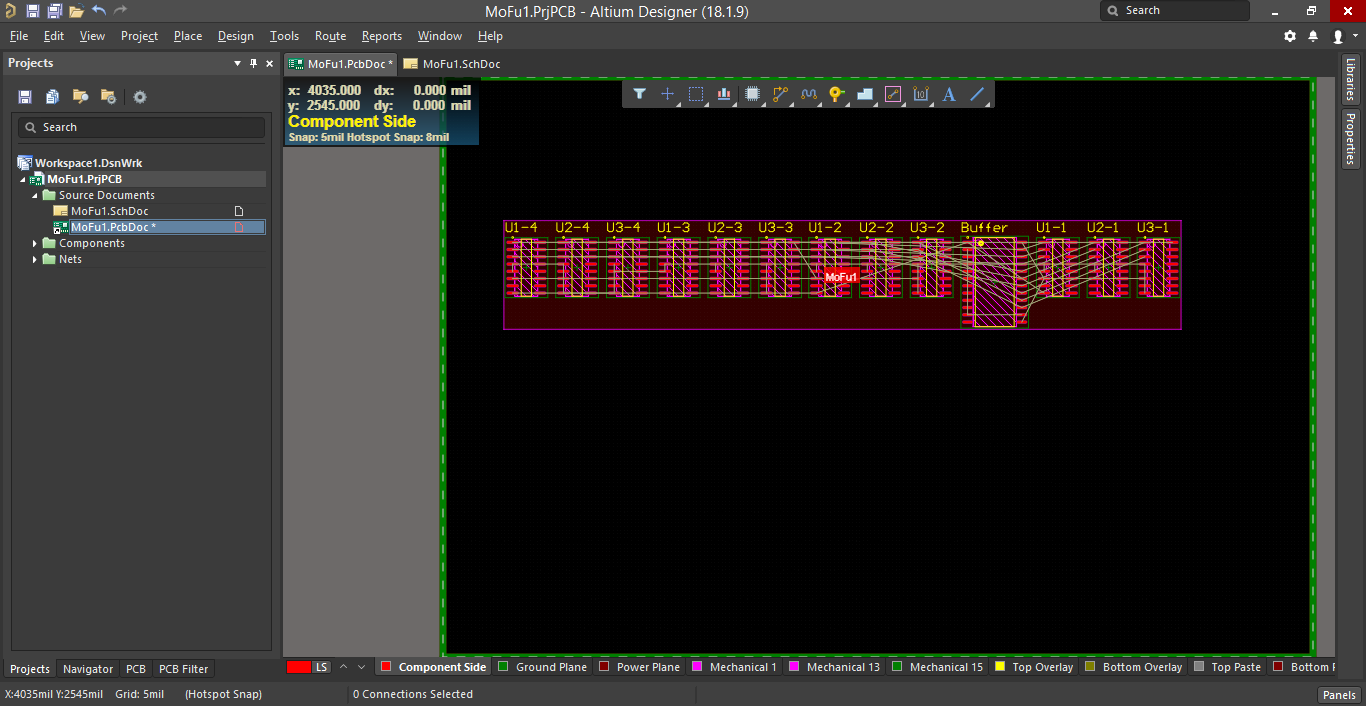 Screenshot of Altium 's design rules in impedance calculation