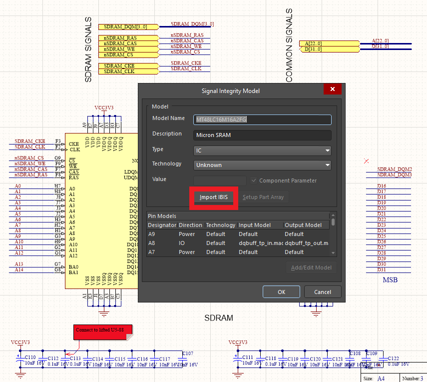 Altium's Signal Integrity Model Editor