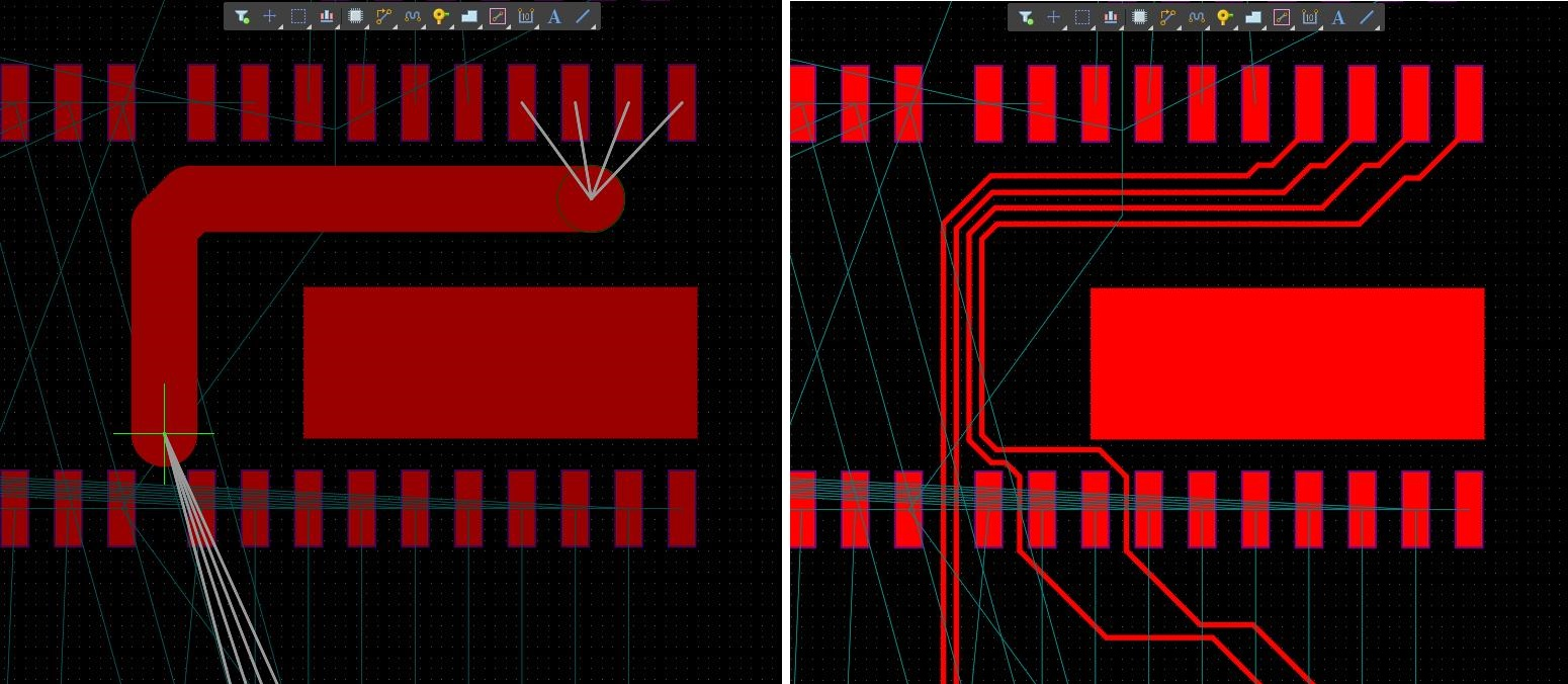 Screenshot AD 18 Active Route in designing a PCB