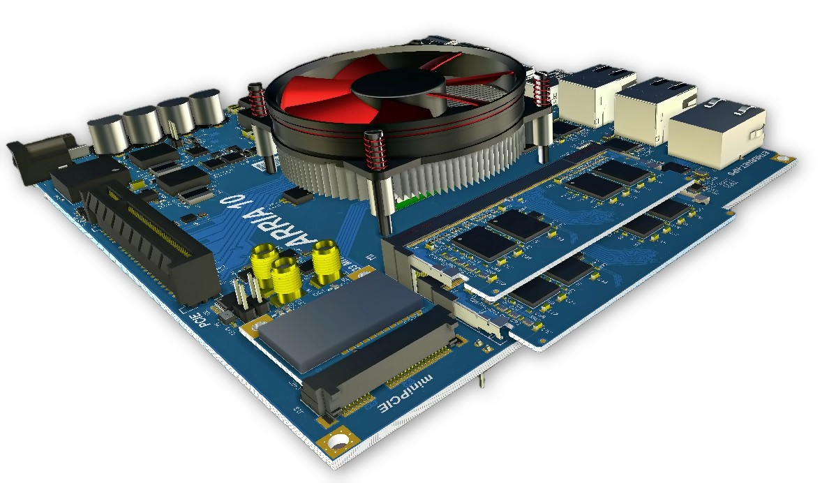 3D CAM view of PCB
