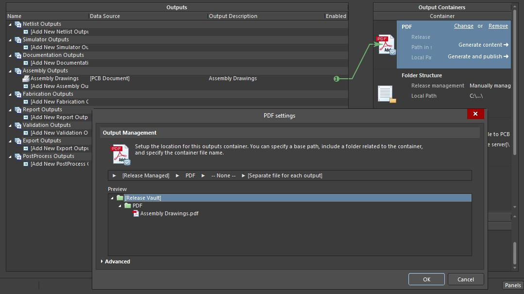 Screenshot of AD18 assembly job output file in project release management