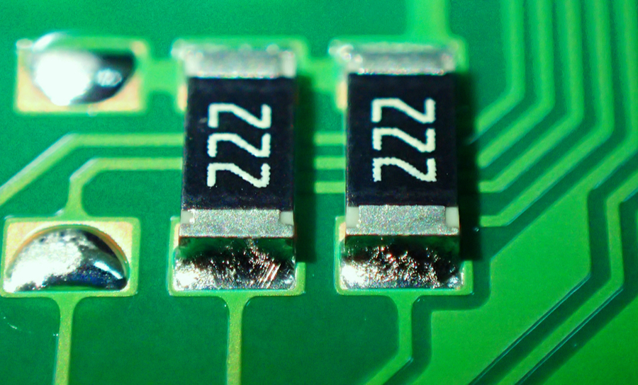 Resistors on a PCB