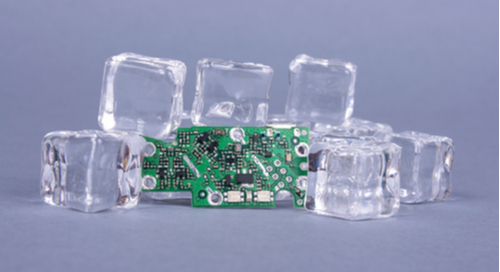 PCB on ice cubes