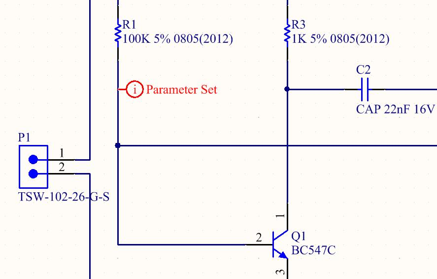 Screenshot of AD18 parameter set directive in net connection order