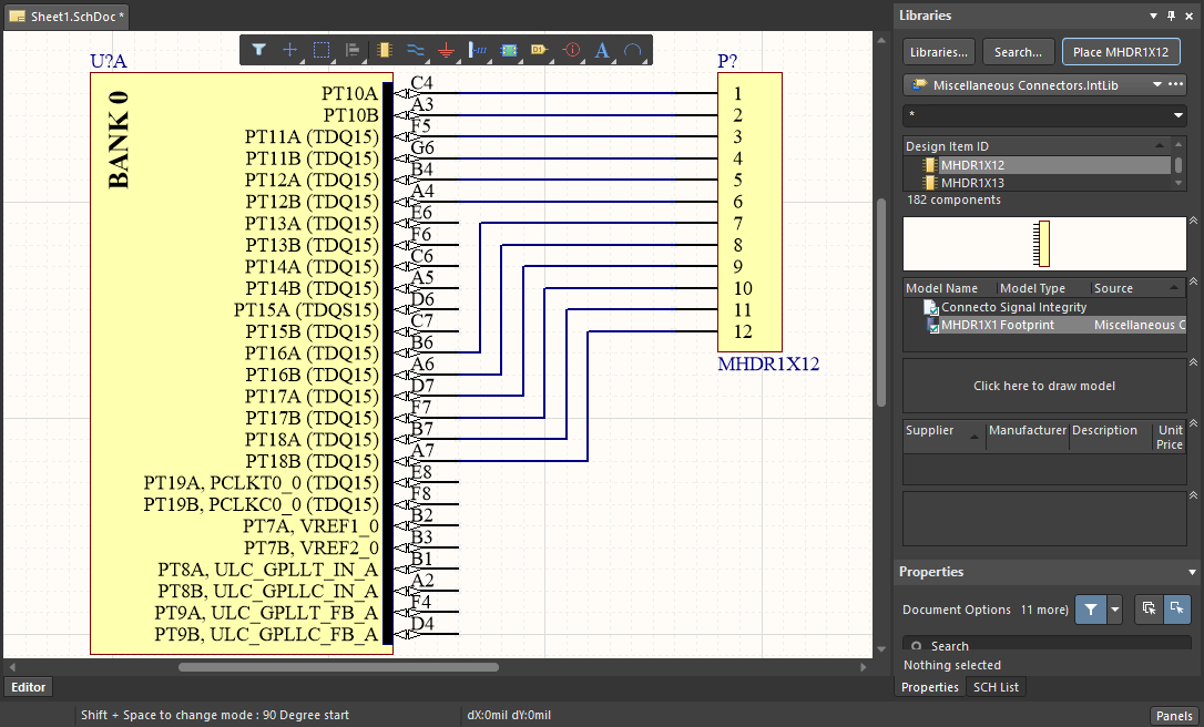 A simple schematic in Altium