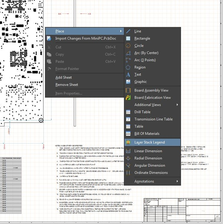 Screenshot of AD  adding layers in pipelining your design file process