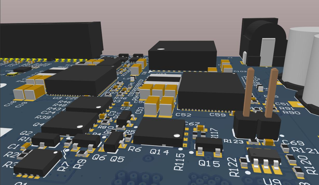 Screenshot of AD18 3D layout in Switching from OrCAD
