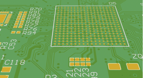 A mix of routing topologies in a single PCB with a BGA