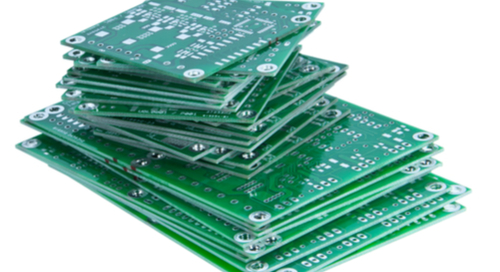 A stack of PCBs with standardized board thickness