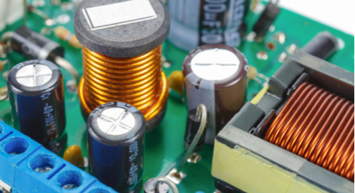 Ferrite choke and electrolytic capacitors