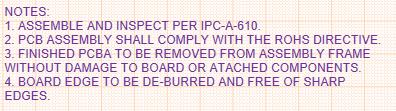 Notas de montaje de circuitos impresos