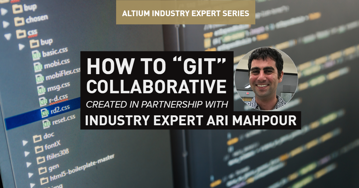 git collaboration header image featuring Ari Mahpour