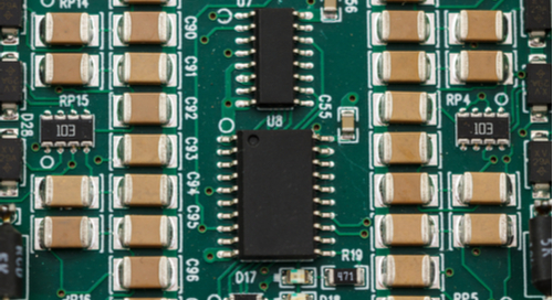 ASICs and passive components on a PCB