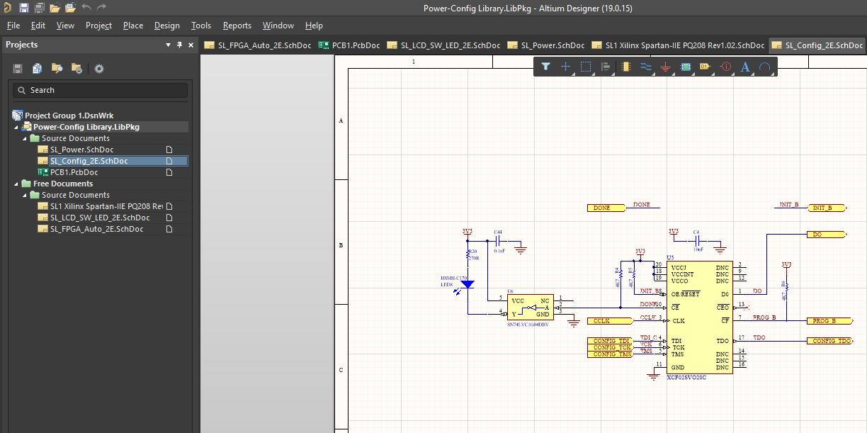 Creating a new integrated library project in Altium Designer
