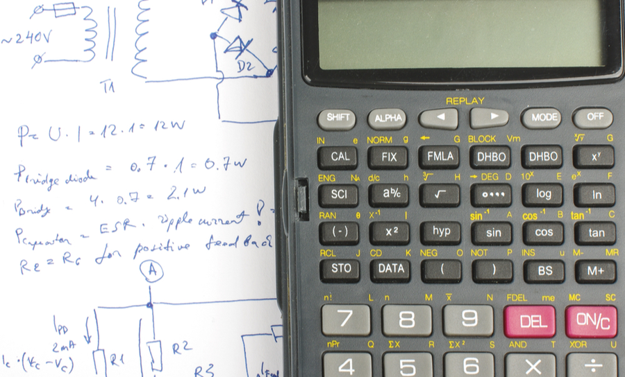 Calculator and an electronic schematic