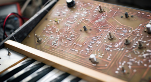 Custom PCB for a synthesizer
