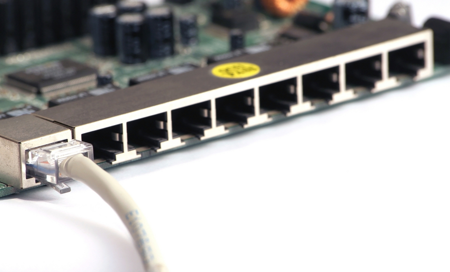 Ethernet ports on a PCB