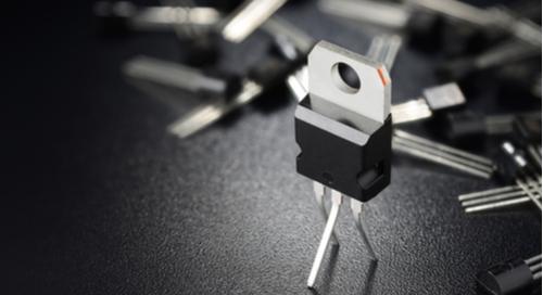 MOSFET transistors on black background
