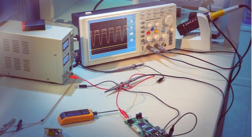 Testing a prototype PCB