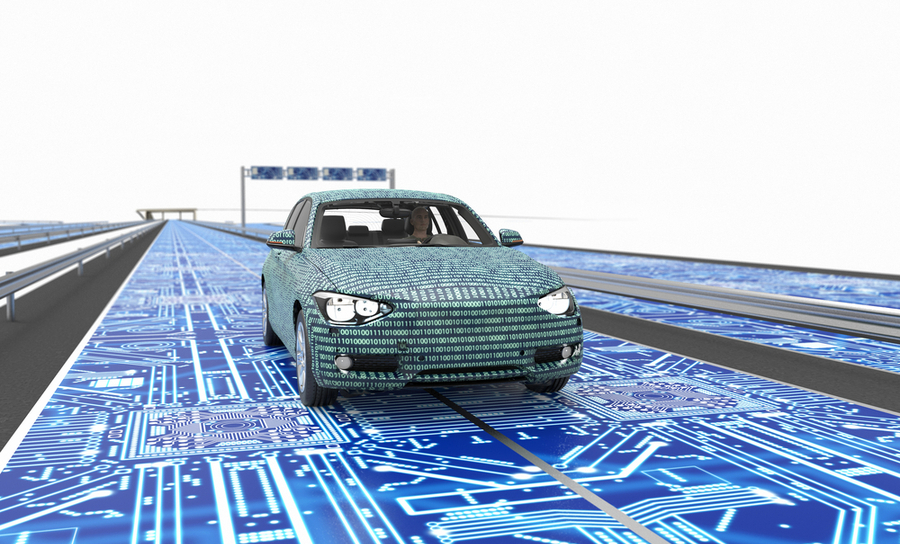 Electronic road and autonomous car