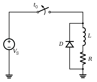Relay diode schematic circuit diagram