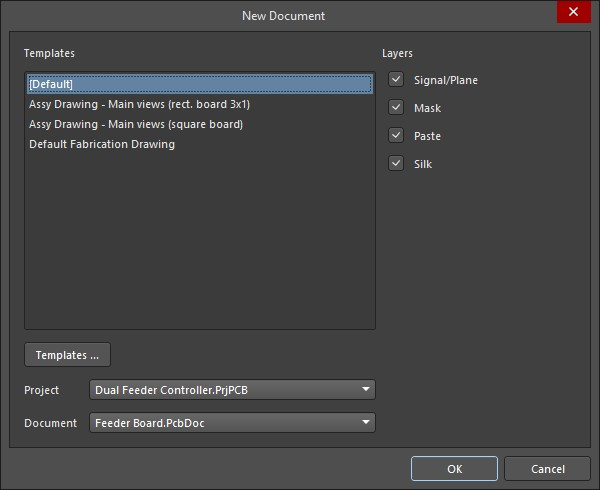 Altium Designer new draftsman document window