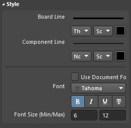 Changing the font in the style group.