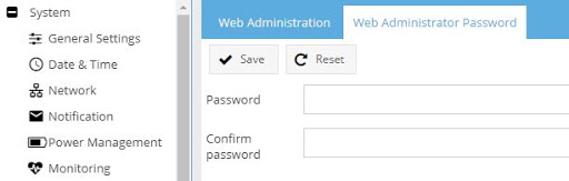 eb administrator password change interface in OpenMediaVault