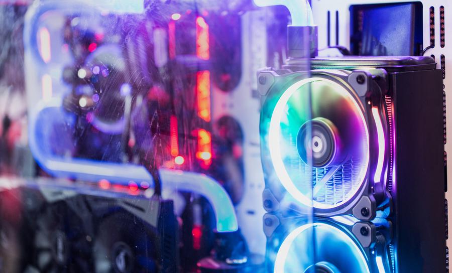 DC fan electrical noise in a computer