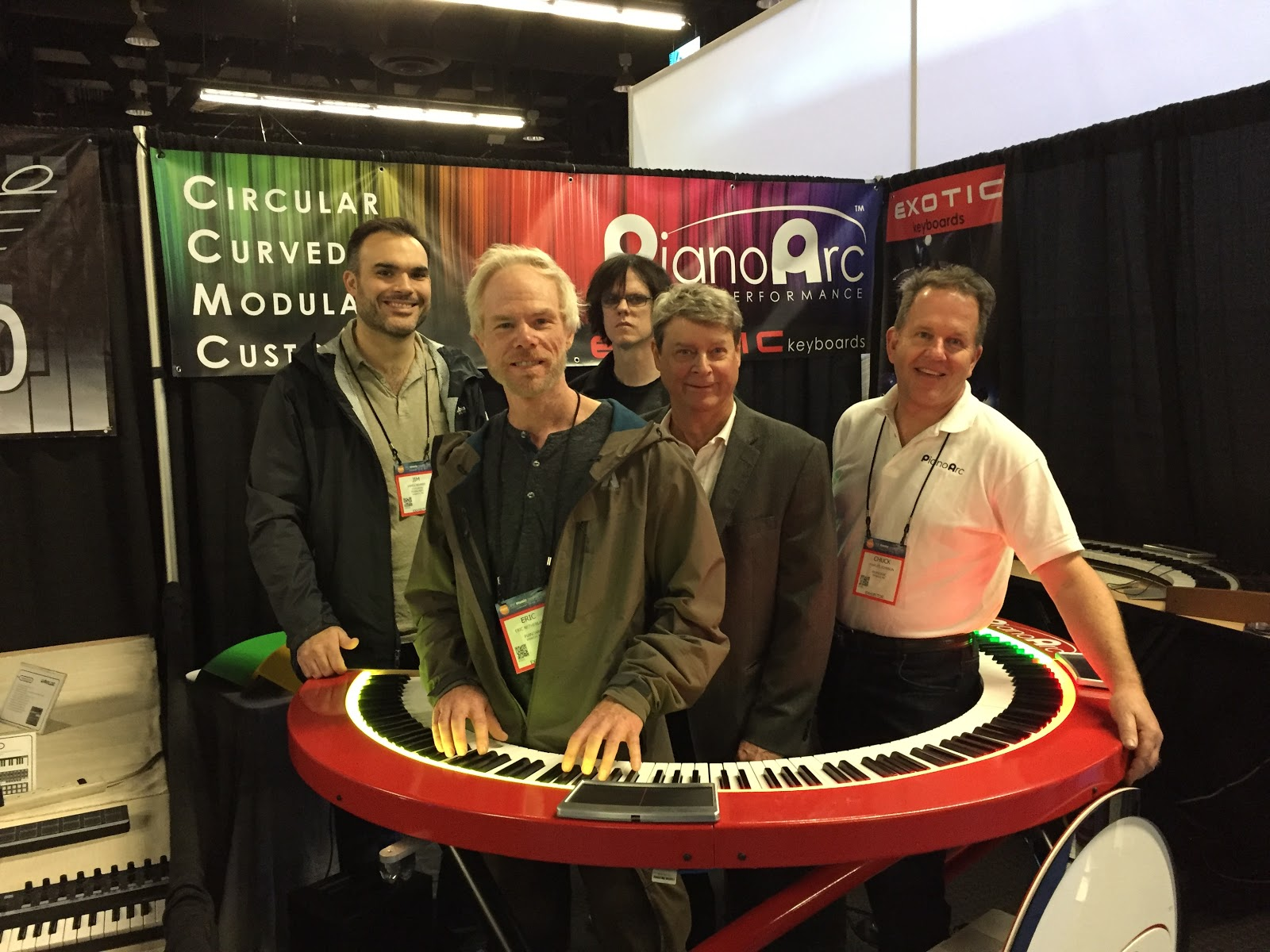 Pianoarc team at trade show