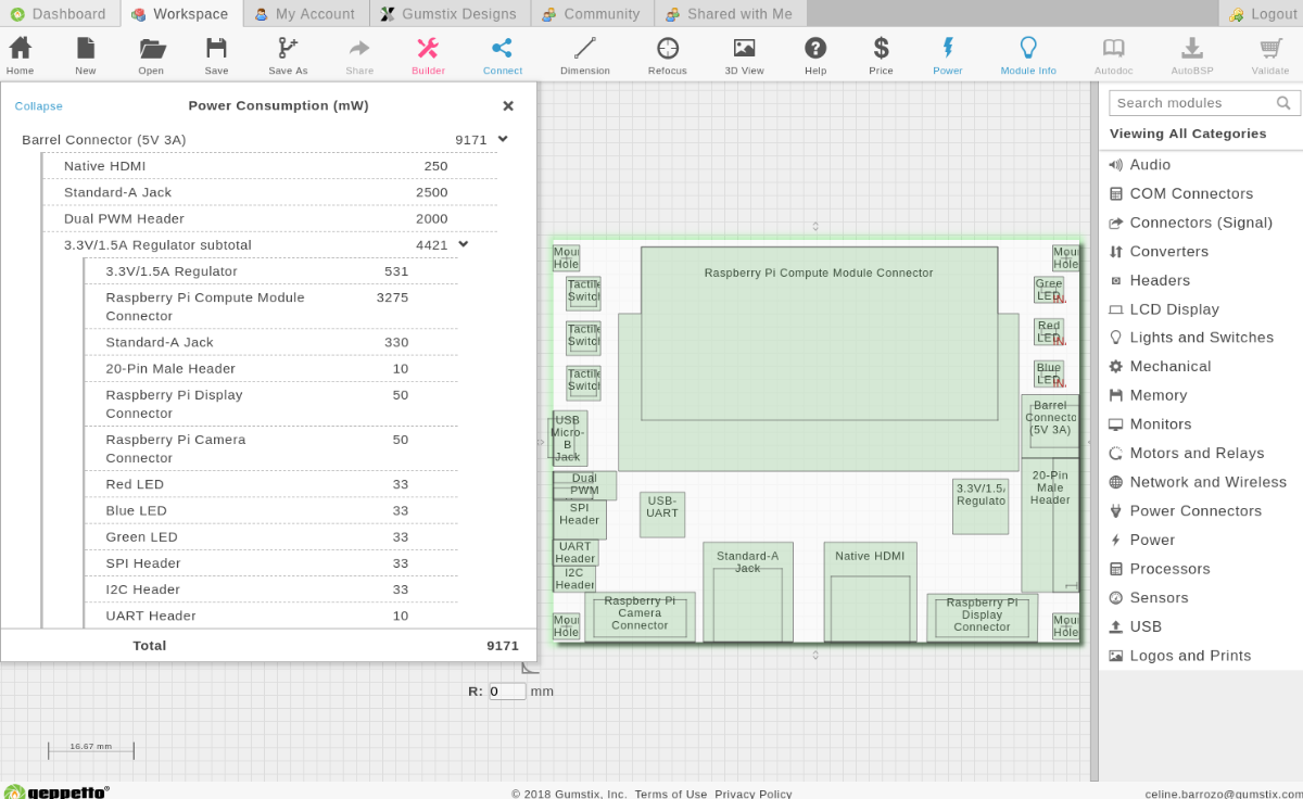 Online electronics design interface