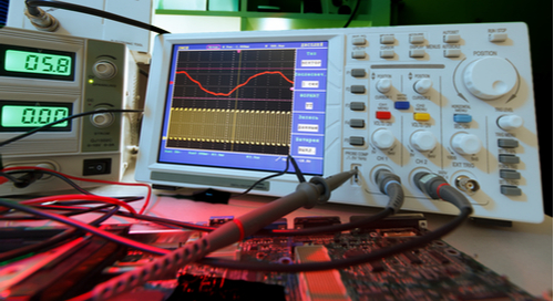 PCB Agile development and testing with an oscilloscope