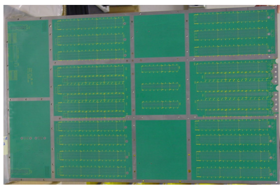 Figure 1. A photo showing a backplane with copper bonding strips