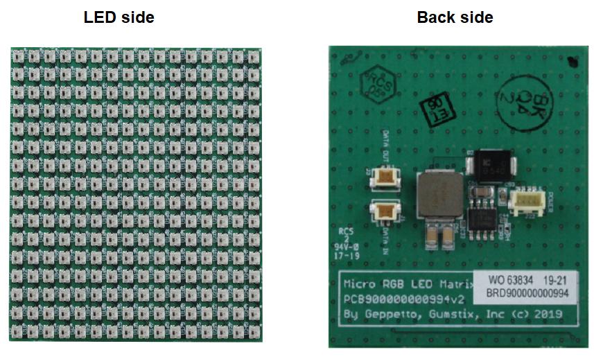 Micro RGB matrix display board