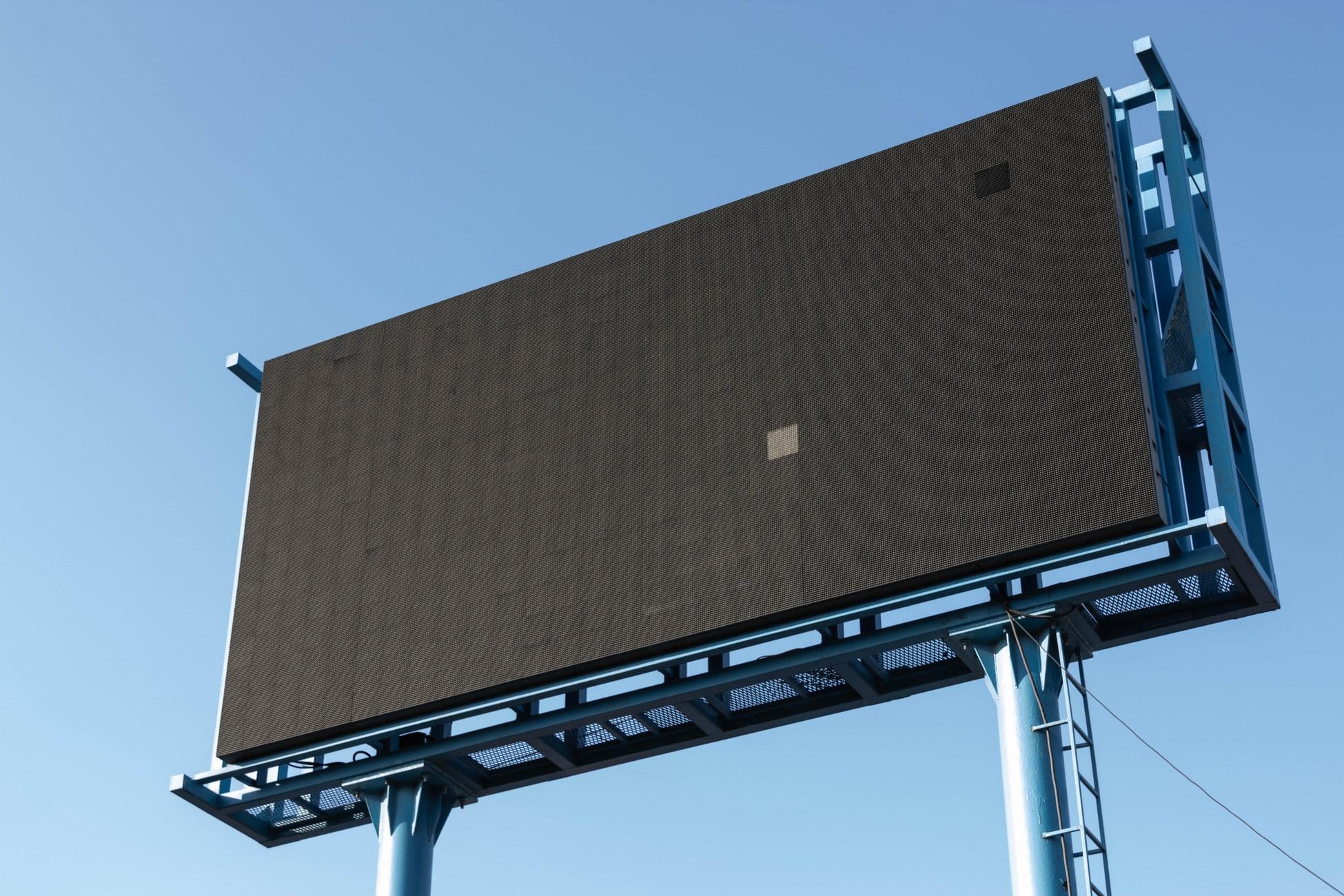 Billboard with RGB LED panel displays