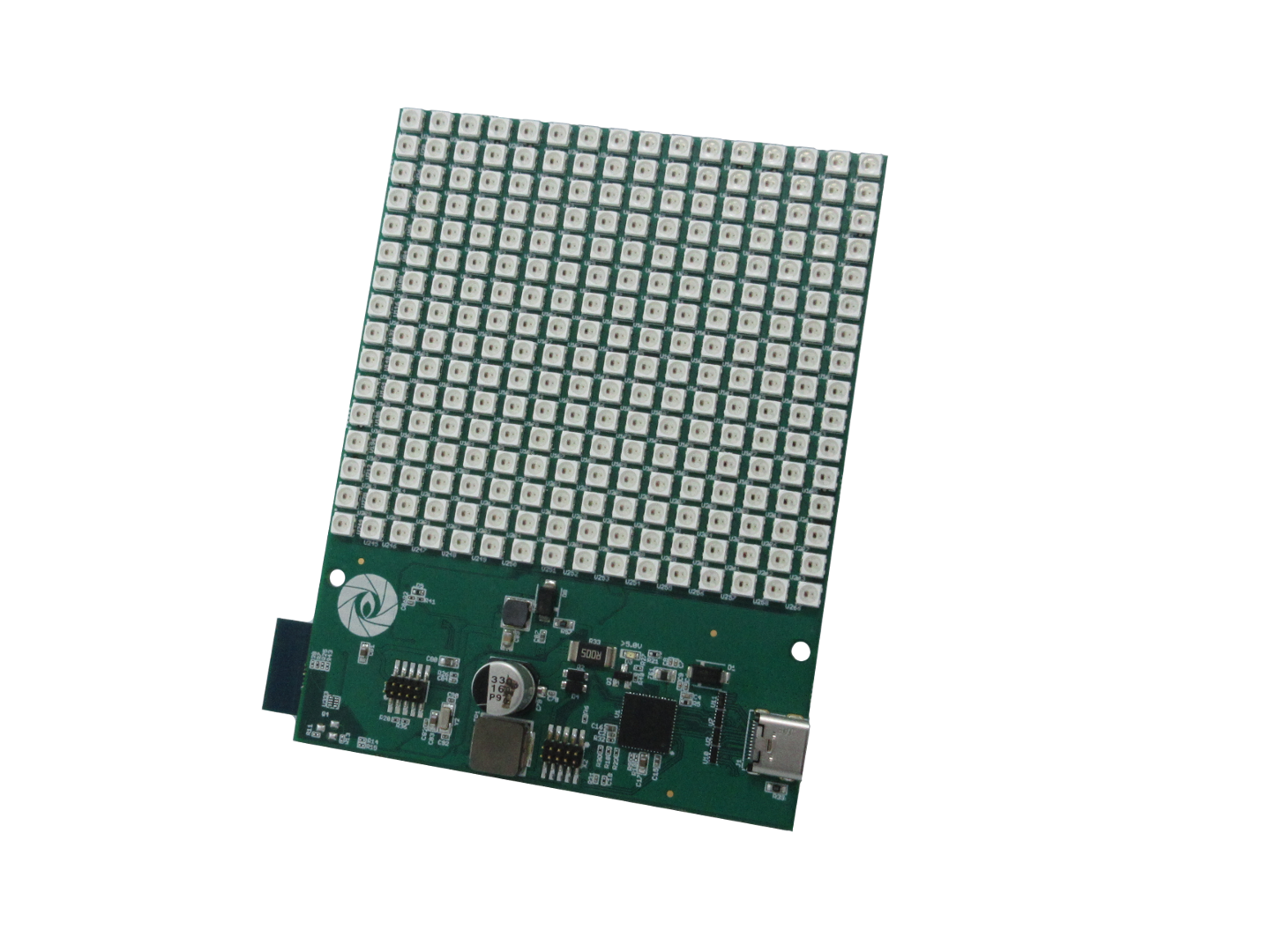 WiFi RGB LED panel from Gumstix