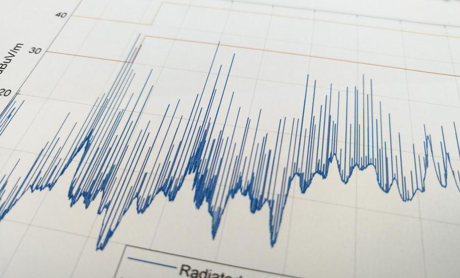 EMC testing with radiated EMI measurements