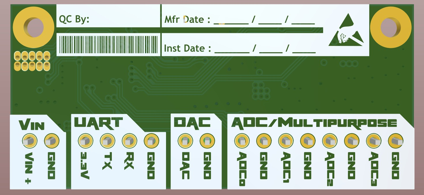 3D bottom view of the electrically complete board with bottom silkscreen in Altium Designer 20