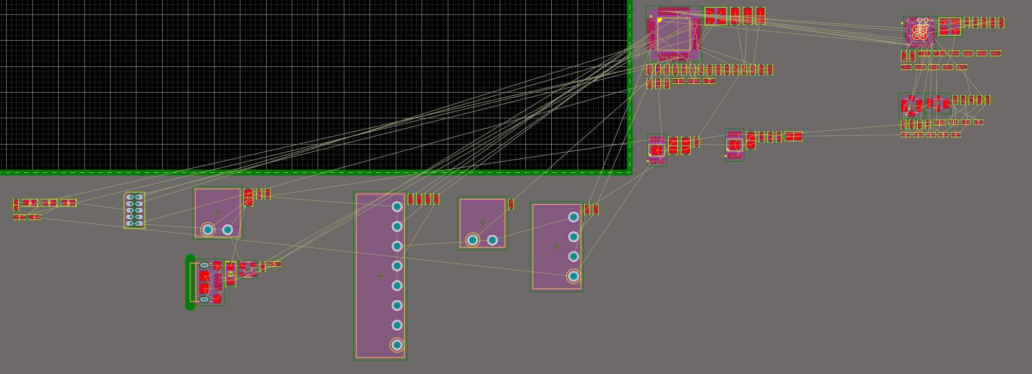 Altium Designer 20 screenshot showing components arranged in logical blocks