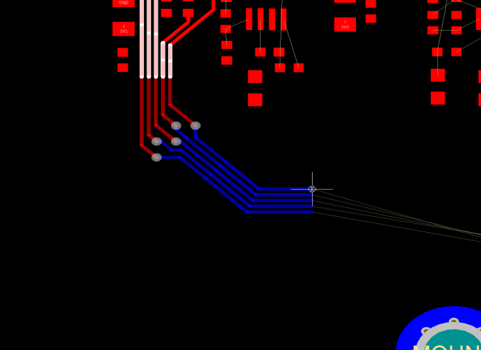 PCB bus routing on a PCB layout in Altium Designer