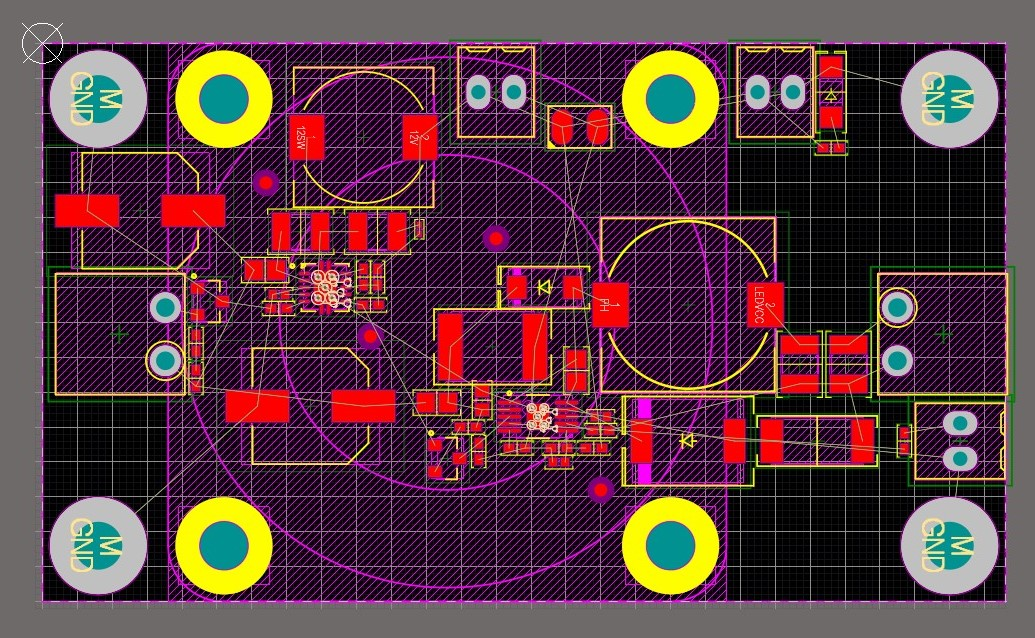 Altium Designer PCB layout of a 65W LED driver