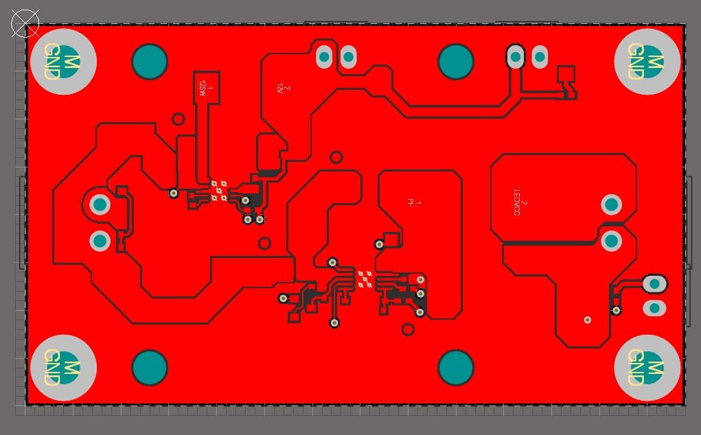 AD20  65W single IC LED driver copper pours
