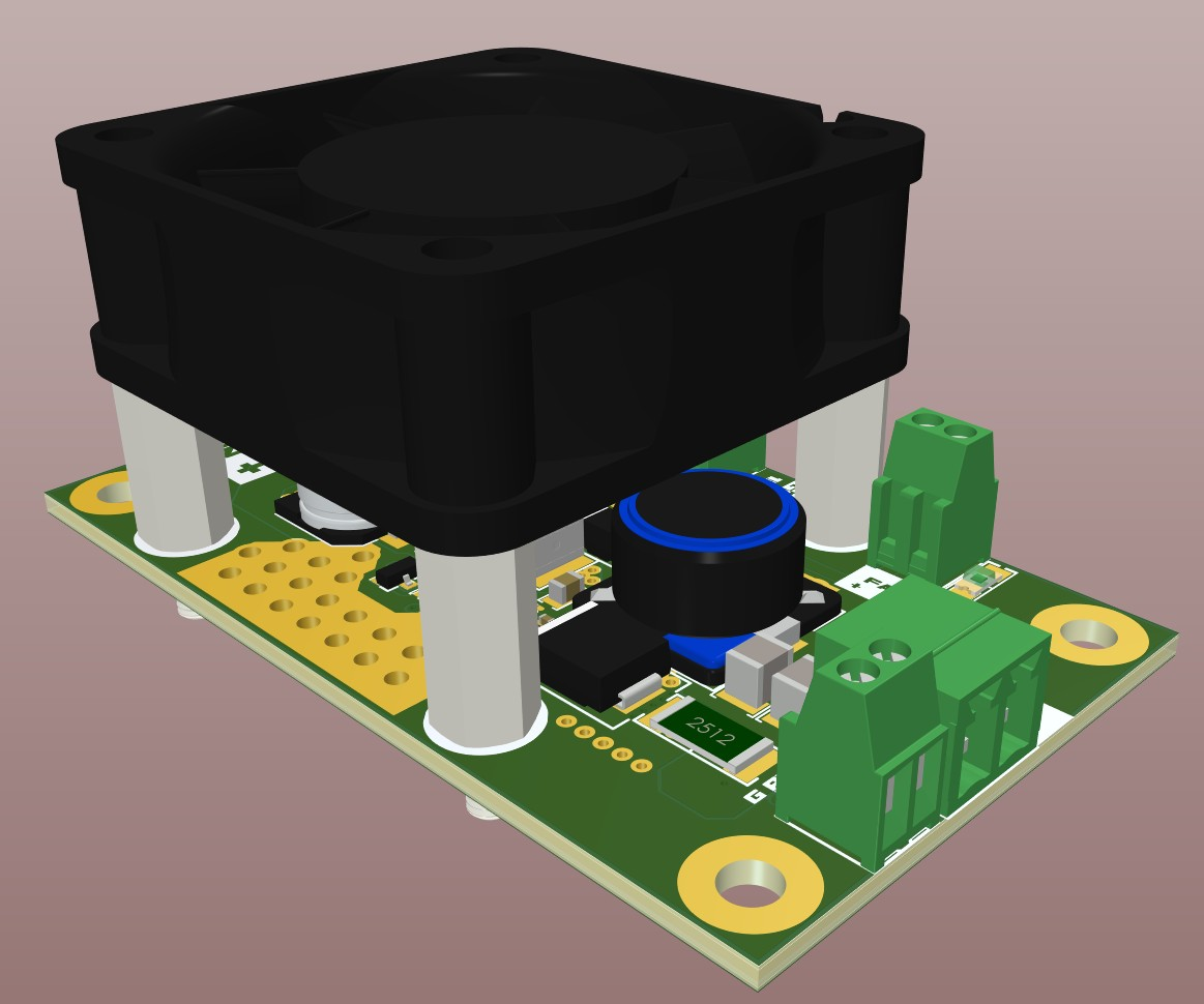 AD20 3D view final render of the top of the board 65W single IC LED driver