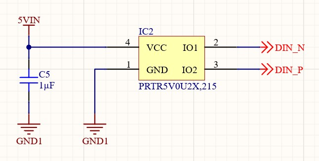 AD20 Isolated USB Connection PRTR5V0U2X,215 TVS diode ESD protection schematic schematic