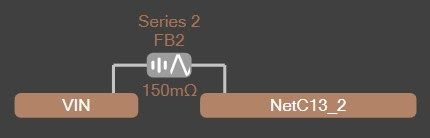 Altium PDN Analyzer Net for ferrite bead