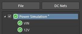 Altium PDN Analyzer power simulation now has 12V net