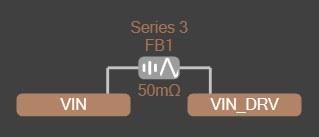 Altium PDN Analyzer Net extension to VIN_DRV