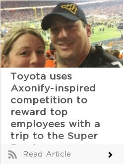 Toyota uses Axonify-inspired competition to reward top employees with a trip to the Super Bowl