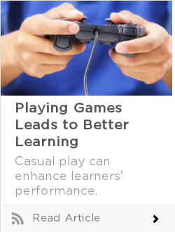 Playing Games Leads to Better Learning